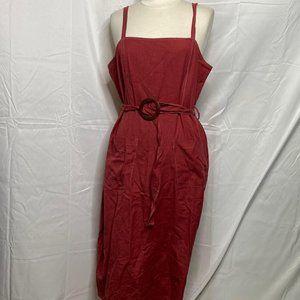 Asos Design Red Midi Dress